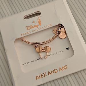 Alex and Ani Disney rose gold Minnie Ears